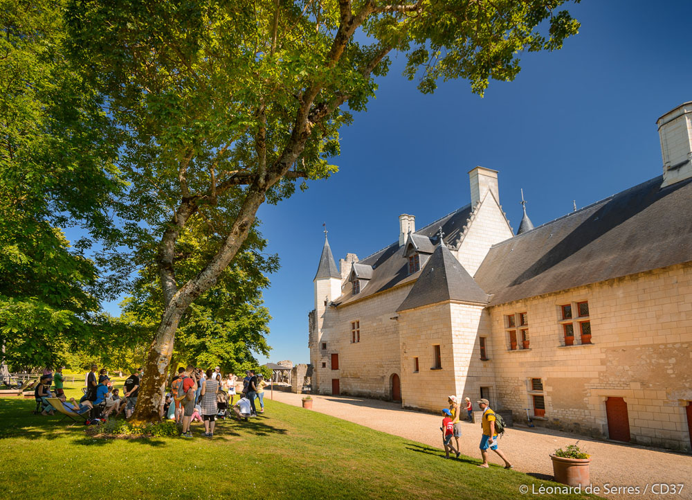Inside the royal fortress of Chinon