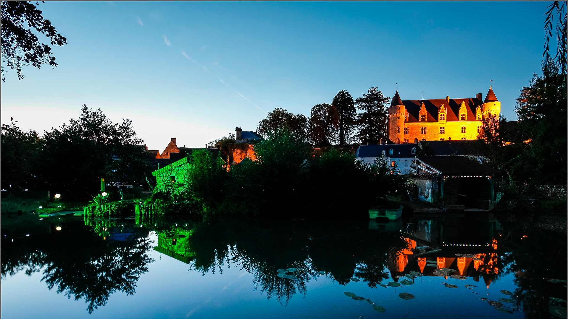 Solar nights - Montrésor, France.