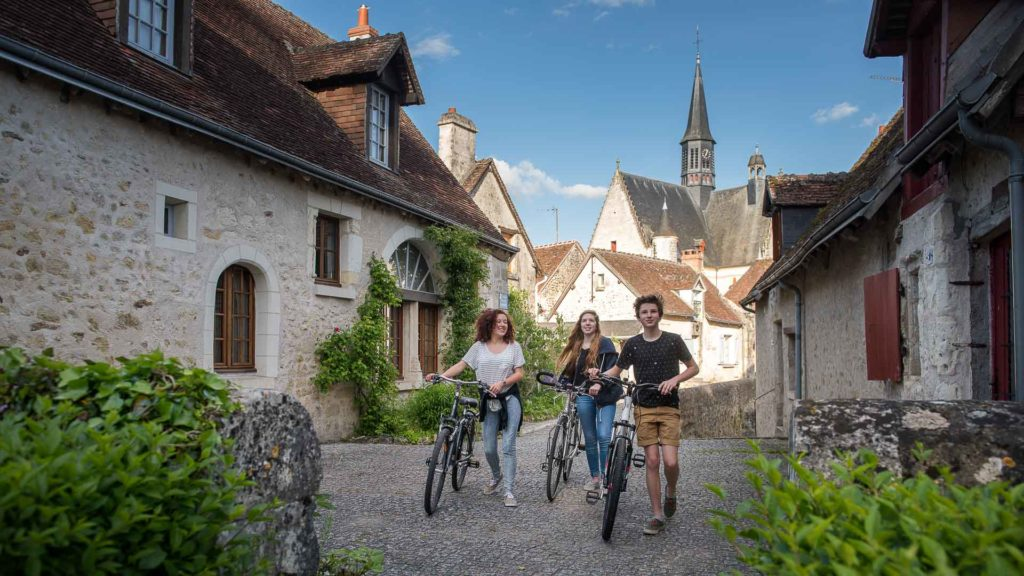 In the alleys of Montrésor, one of the most beautiful villages of France.