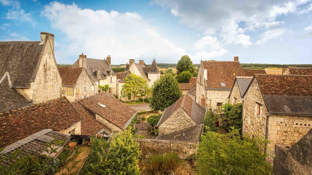 The splendid roofs of Crissay-sur-Manse, one of the most beautiful villages of France