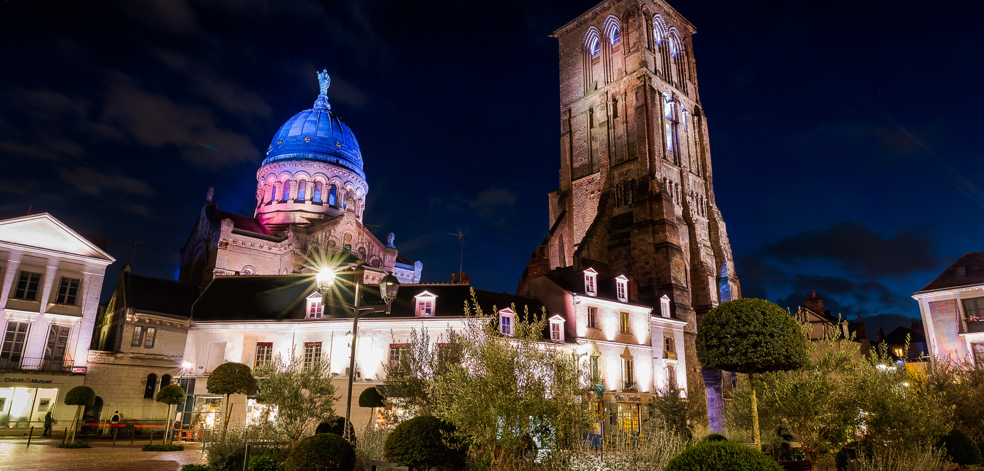 Saint Martin Basilica in Tours, beside the Charlemagne Tower. Way of Saint-James, from Tours to santiago de compostela on a Jacobean year.