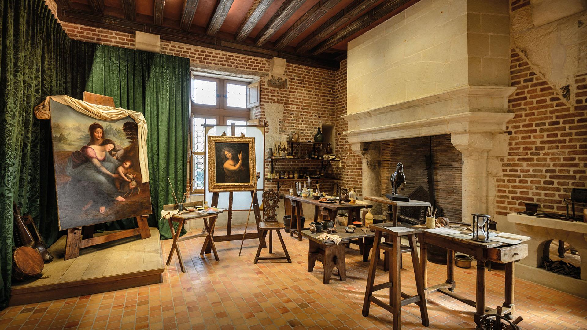 Leonardo da Vinci's studio, in the Clos Lucé