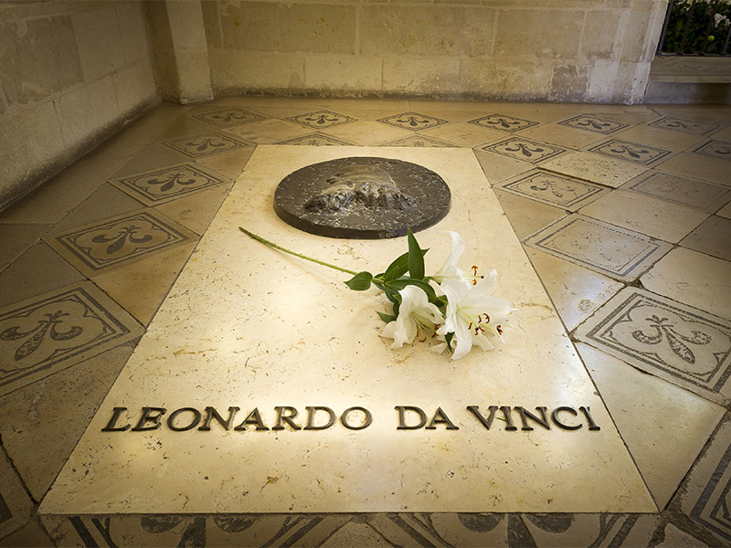 The grave of Leonardo da Vinci - Royal castle of Amboise
