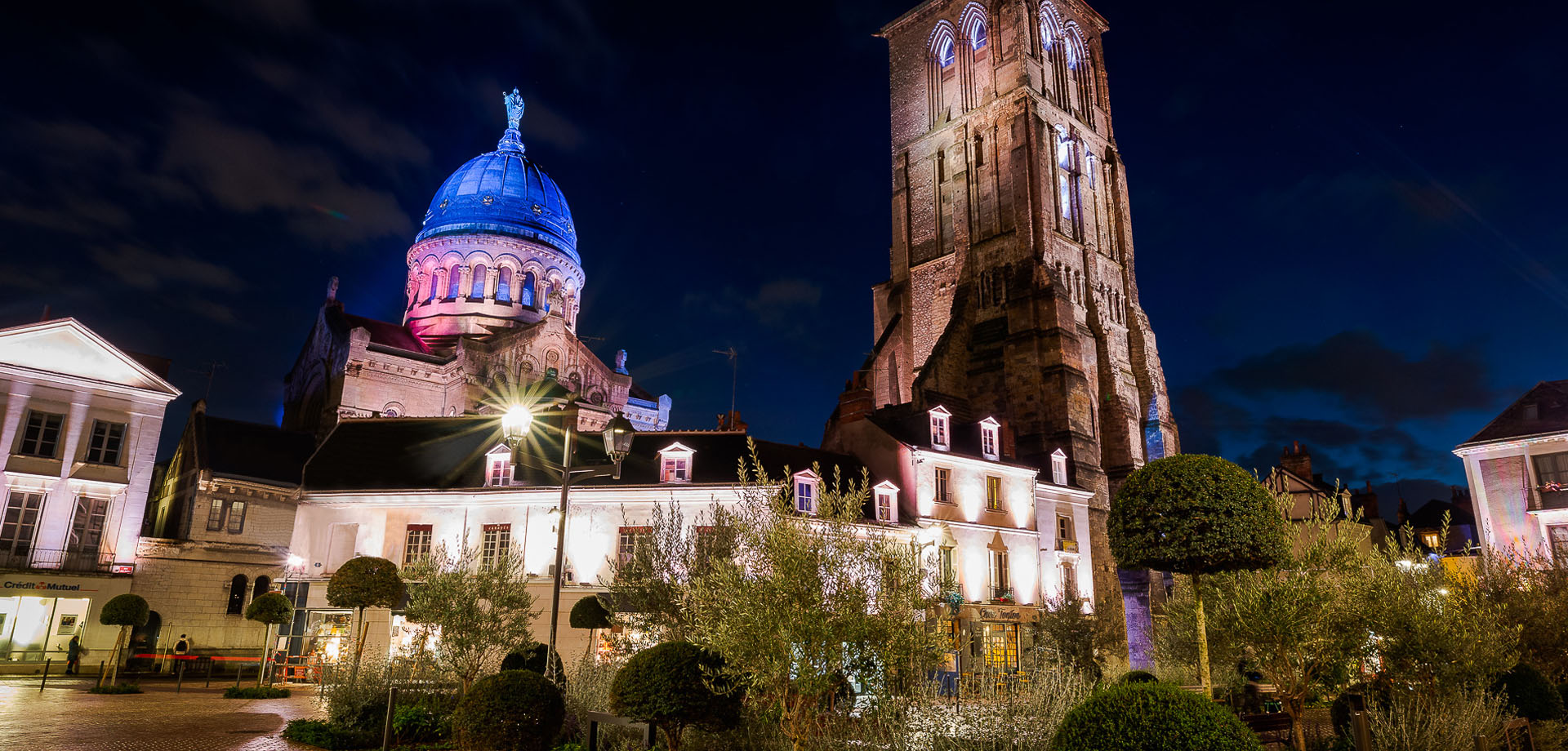 Saint-Martin Basilica and the Charlemagne tower