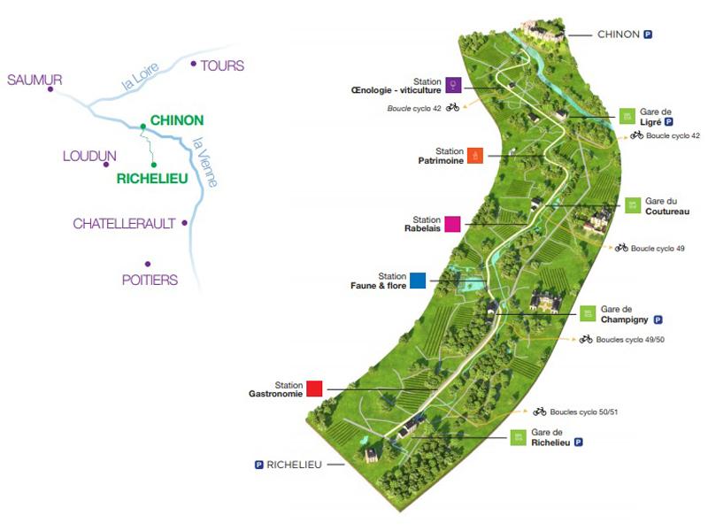 Richelieu - Chinon Green Path map