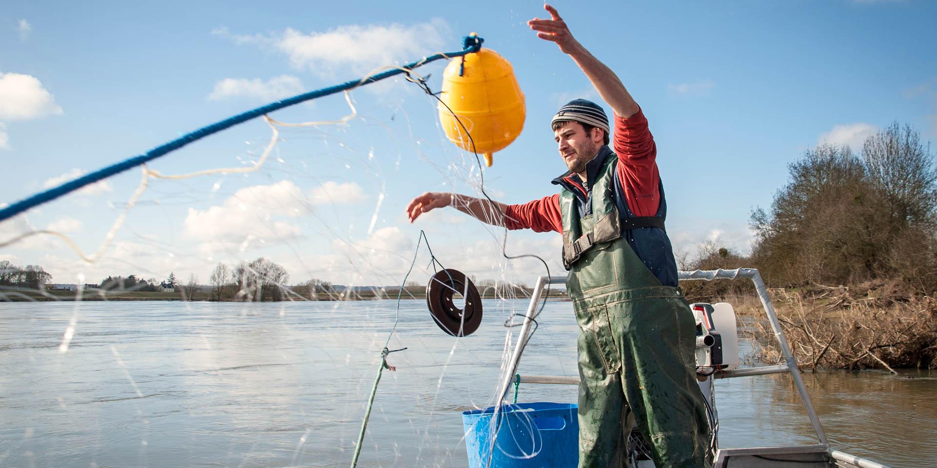 Romain Gadais, a fisherman on the Loire River