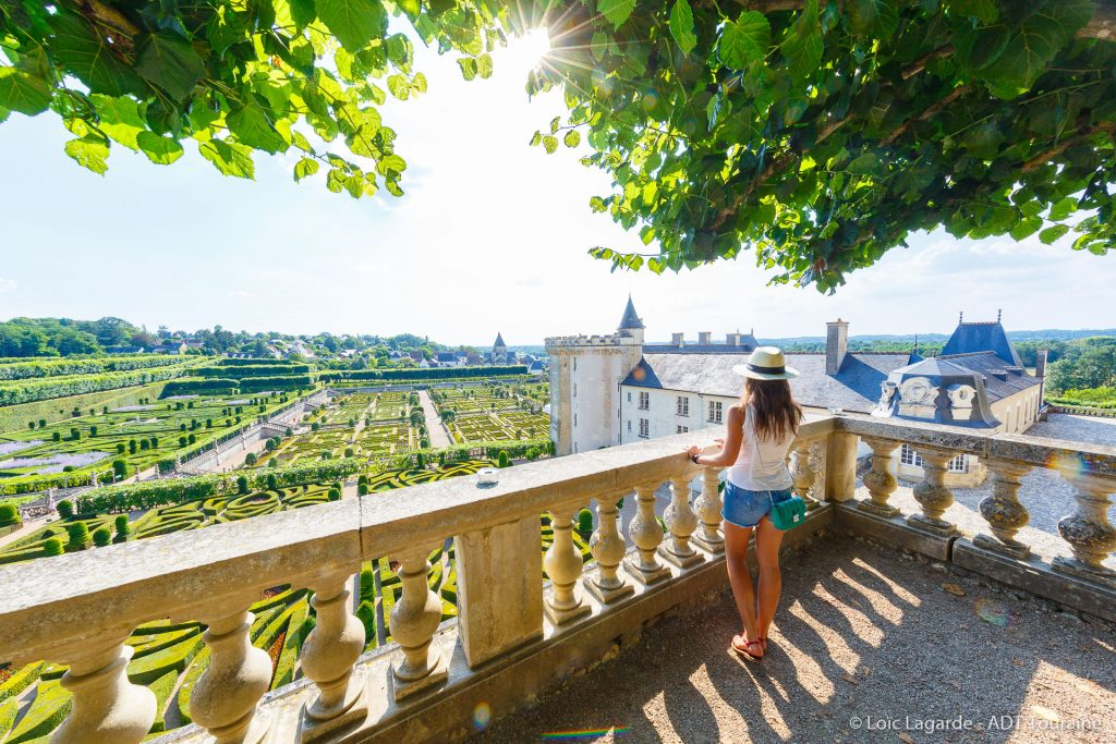 The chateau of Villandry and its gardens