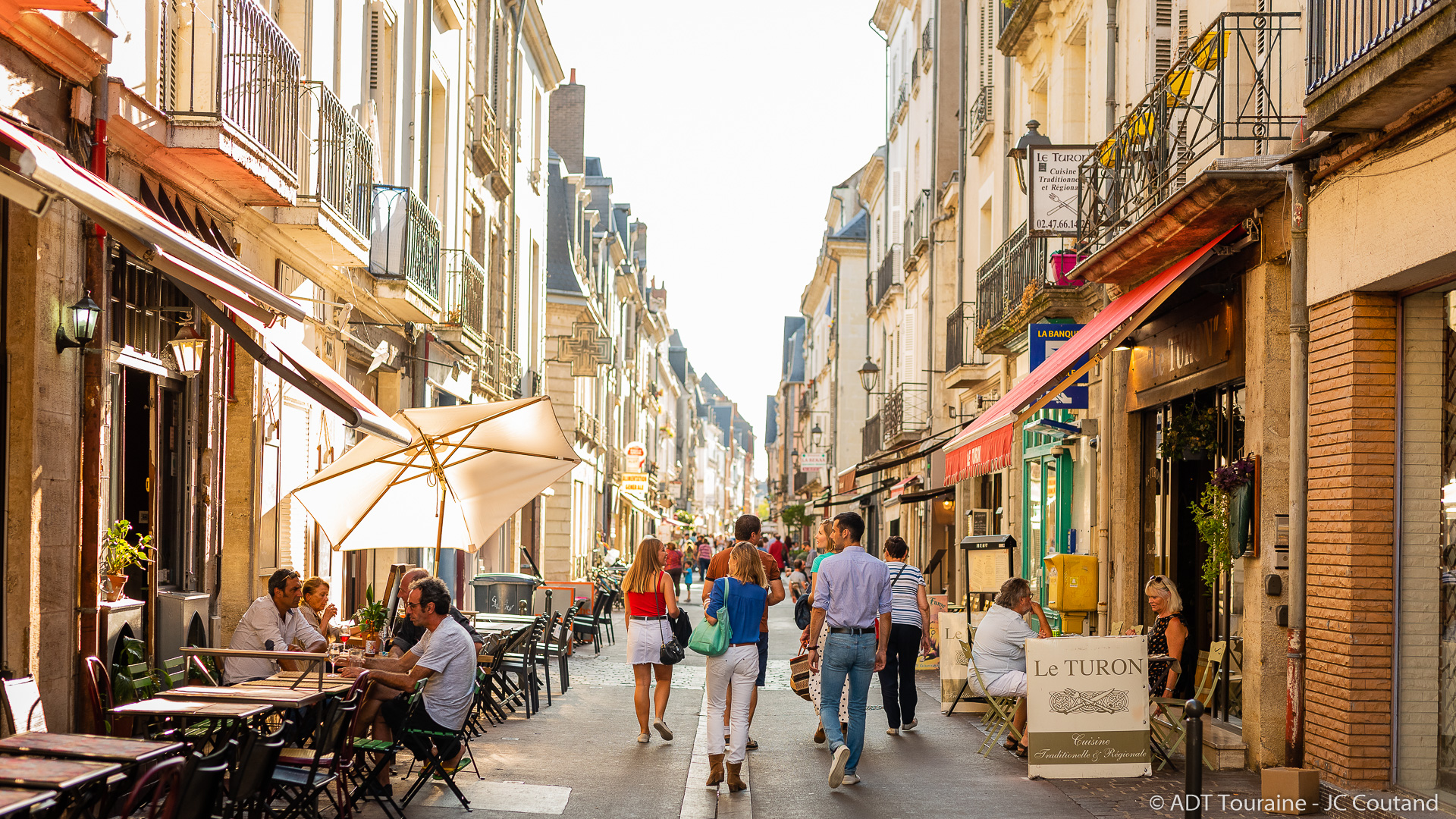 The streets of Tours