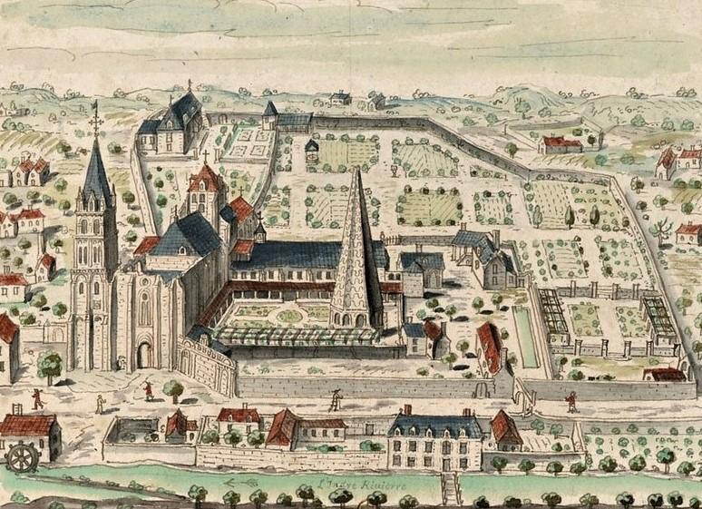 The former Beaulieu Abbey - Beaulieu-lès-Loches. Loire Valley, France.