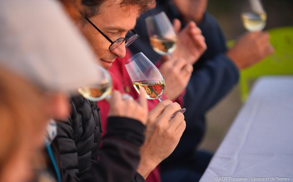 Meeting up in the vineyards: tasting