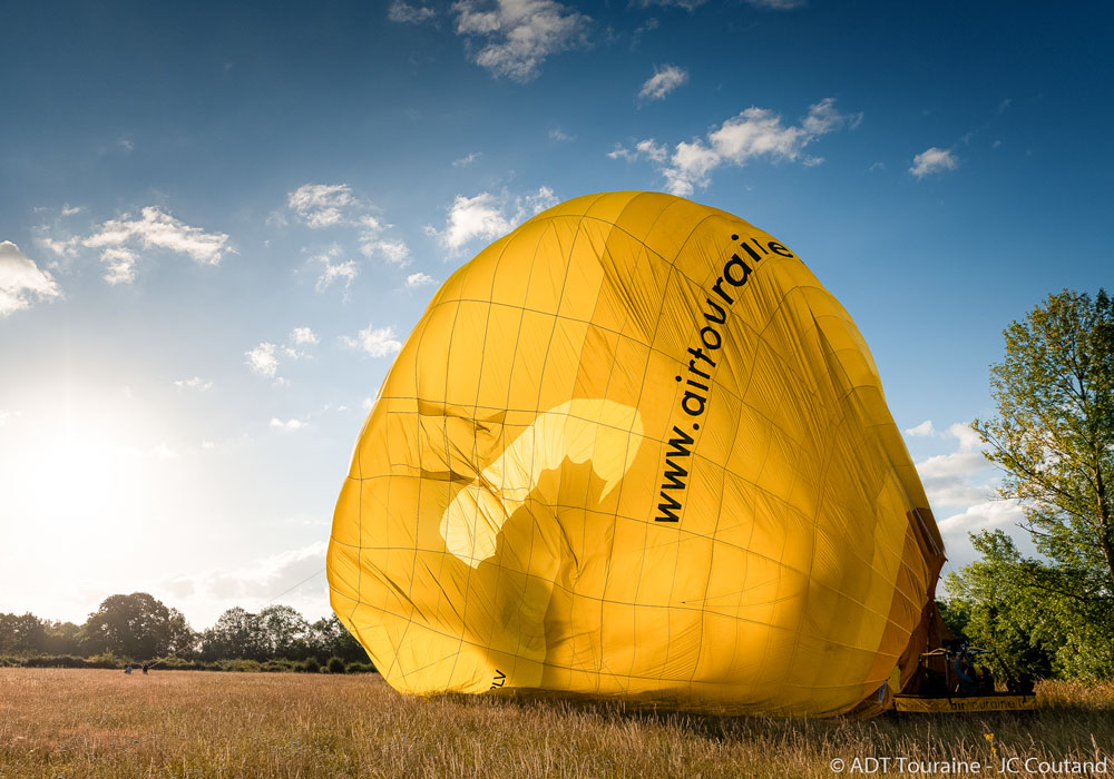 End of the flight: deflating the balloon!