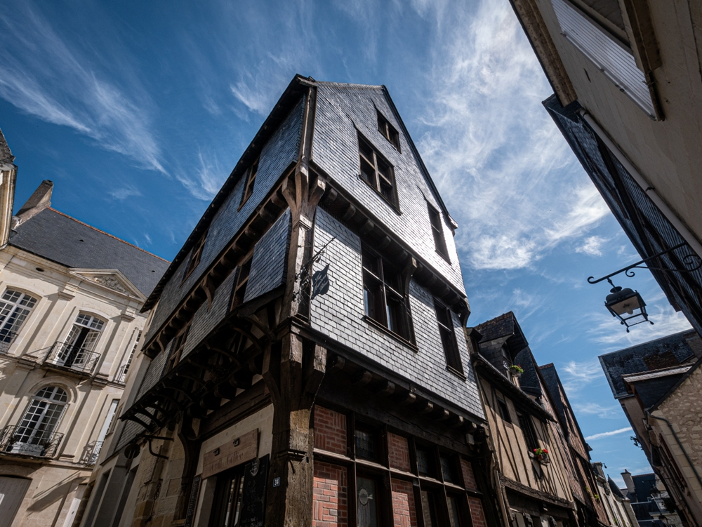 Medieval house covered in slates - Chinon