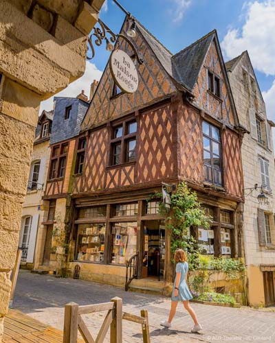 A timber-framed house in Chinon, Loire Valley, France, like those of Tours, Alsace, Normandy...