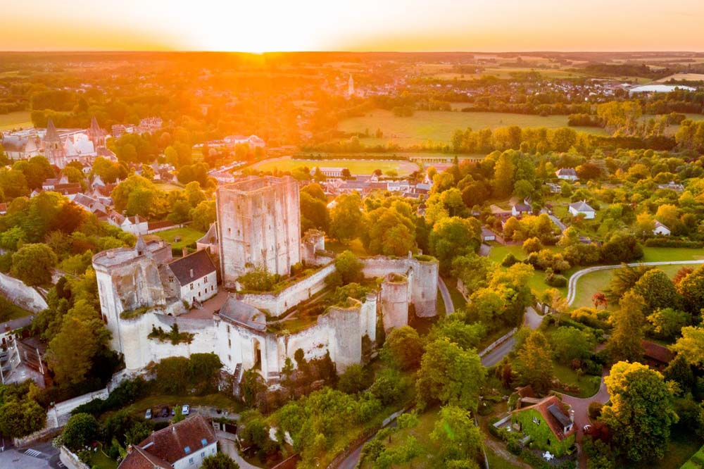 The Royal City of Loches keep