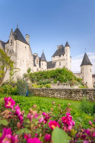 Colour of roses - The Rivau castle, Loire Valley, France.