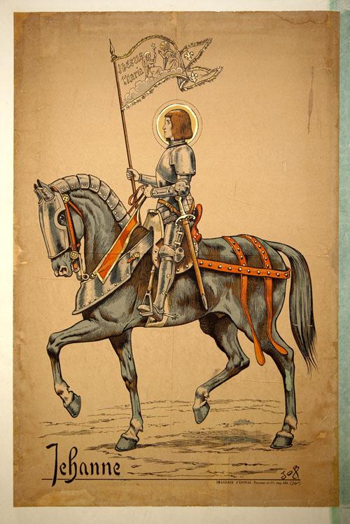 Joan of Arc on horseback - Chinon, France.