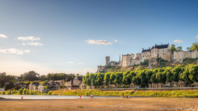 Joan of Arc - Royal Fortress of Chinon, France.
