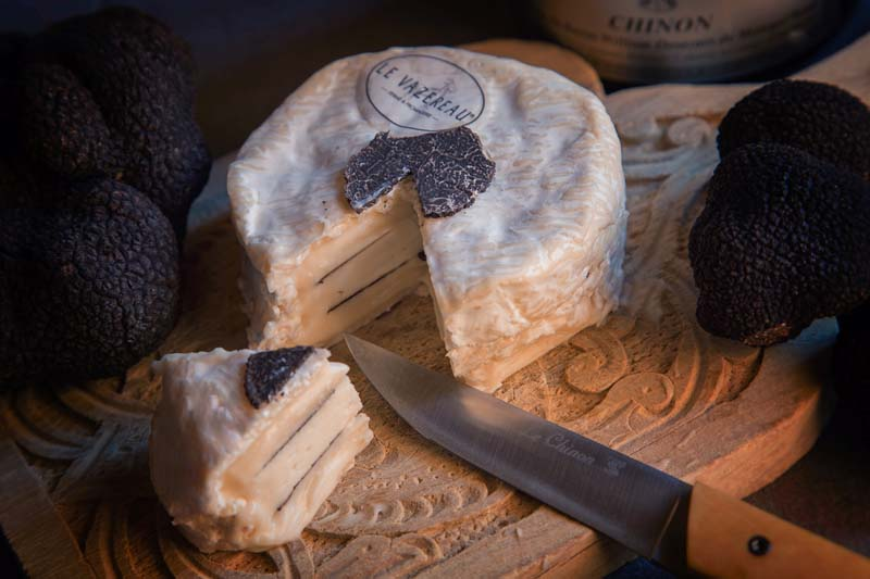 Le chinonais - Cheese with black truffle, France - Le Vazereau farm