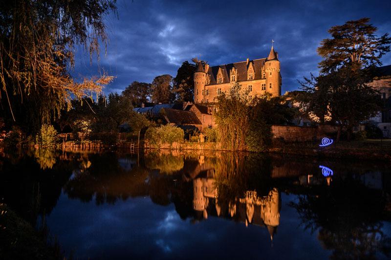 Solar nights of Montrésor, France. Sounds and lights shows