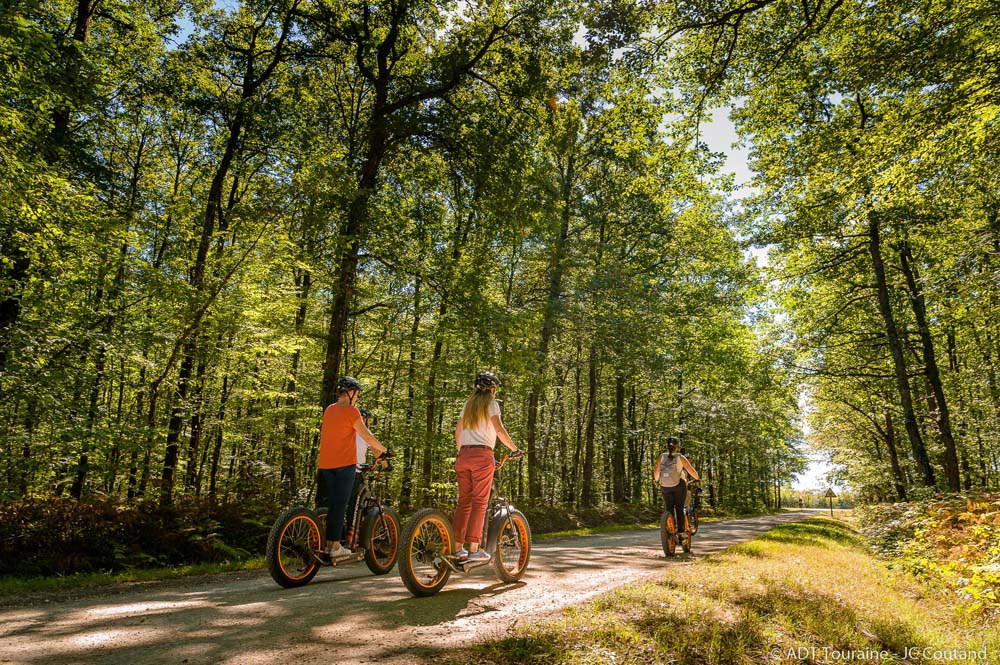 Trott'ecow: electric scooter into the Loches national Forest - France