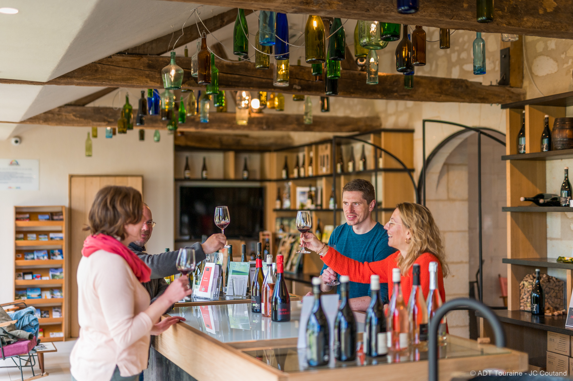 Tasting the estate's wines