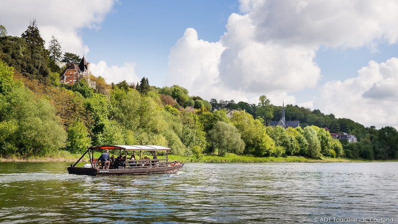 Boat trip on the Loire, from Tours. Loire Valley, France.