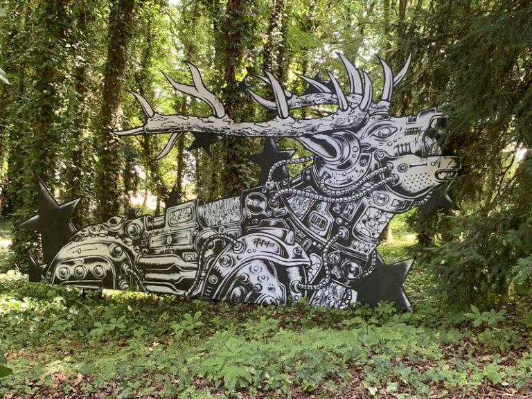 Street Art park at the chateau de Môh-2