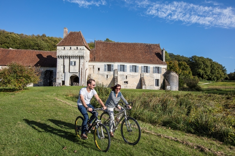 French Chateau Monastere de la Corroirie - Montrésor, Loire Valley, France.
