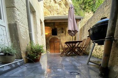 Gite-maison remparts-terrasse-loches