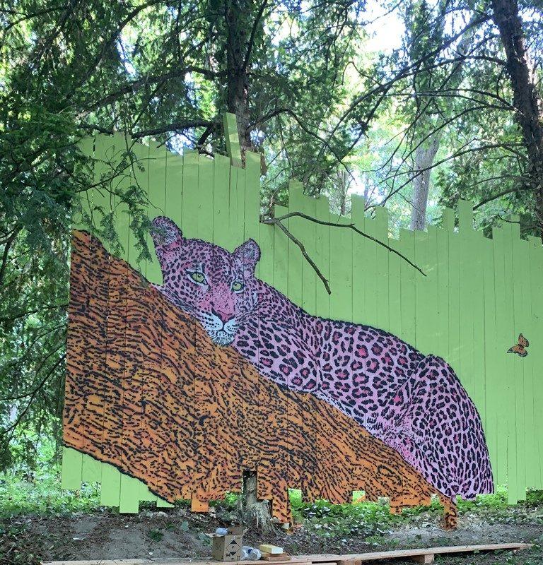 Street Art park at the chateau de Môh-11