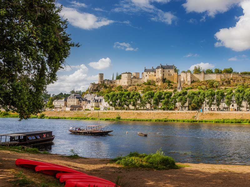 The royal fortress of Chinon - Loire Valley, France.