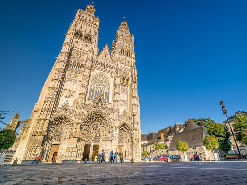 St Gatien Cathedral - Tours, Loire Valley, France. Religious heritage