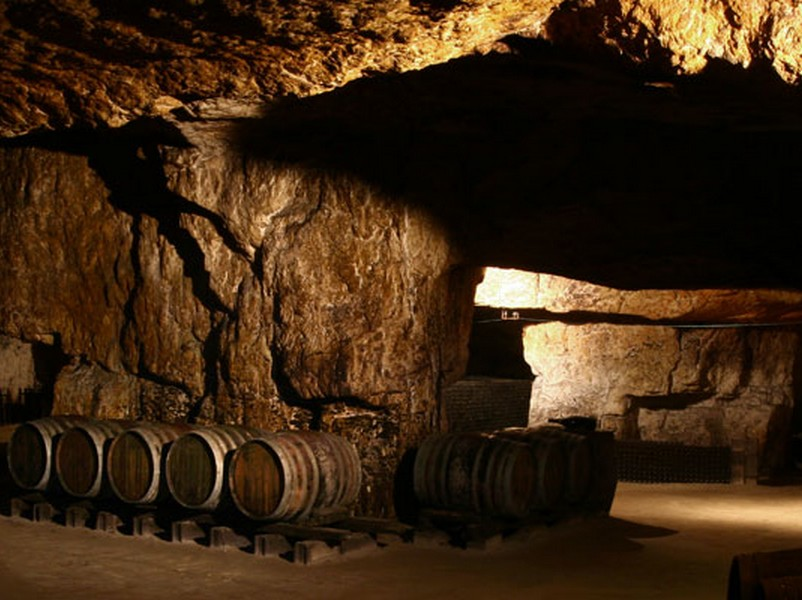 A wine cellar of the Bourgueil appellation