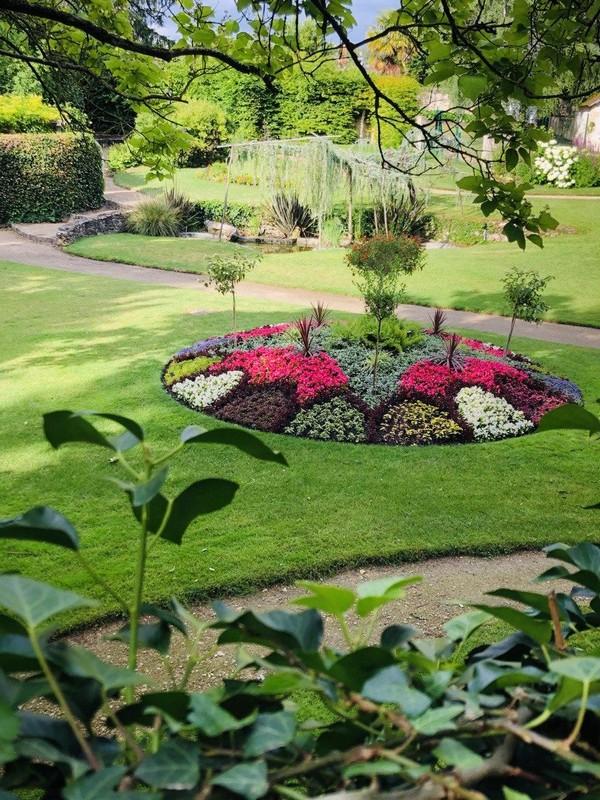 René Boyslève Garden, on the greenway south Touraine trail. Loire Valley, France.